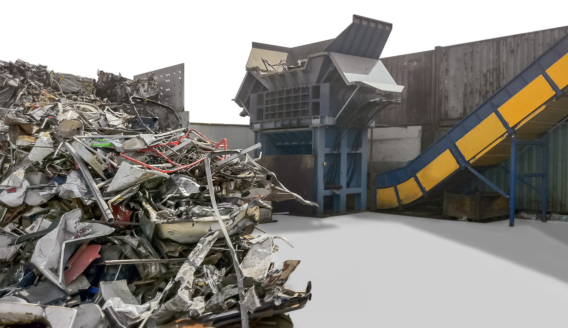 Ferrous waste collection processing system