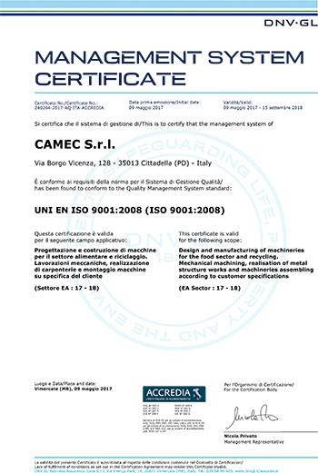 camec-certificazioni-azienda-certificato-ISO-9001